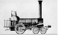 an analysis of the 1830s and the first steam locomotive by horatio allen Find a summary, definition and facts about the railroads in the 1800s for kids   then the steam locomotive was invented  era exploded in 1830 when peter  cooper's steam locomotive, called tom thumb, first steamed  the lion was  built in 1828 and imported from england by horatio allen of new york.